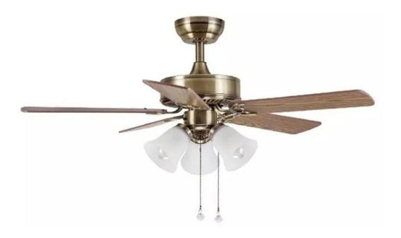 Ventilador De Techo Para 3 Luces E27 Tul.vidrio E27 Airmax