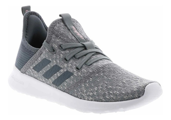 adidas Zapatilla Running Mujer Cloudfoam Pure Gris- Blanco