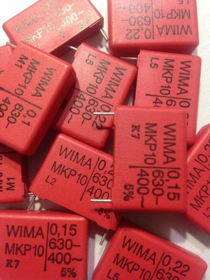 Capacitores Wima Mkp10 Pp Para Audio 0.1 0.15 Y 0.22