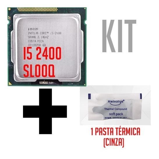 Processador Intel Core I5-2400 Sr00q 3.1 + Pasta Térmica