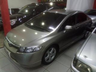 Honda Civic Lxs 1.8, 2008, Automático,completo,com Couro.