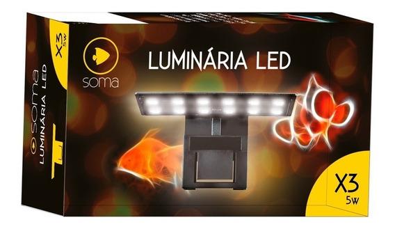 Luminária Soma X3 5w Modelo Preto Led Cor Branco E Vermelho