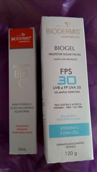 1 Serum Vitamina C Estável 20% E 1 Biogel Fps30 Biodermis