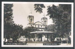 Tt1 Foto Postal Colombo Tatuí, Igreja Matriz, Religião
