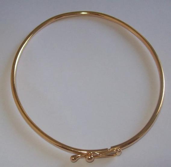 Bracelete De Prata 925 Com Banho De Ouro18k