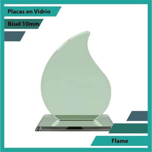Placas En Vidrio Forma Flame