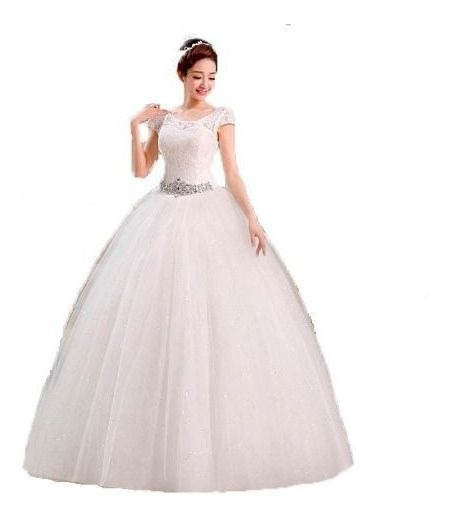 Vestido Casamento Cristal Debutante Noiva Princesa + Anaguá