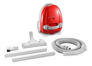 Aspirador Portátil 1200w Pó Multilaser Vermelho + Acessórios
