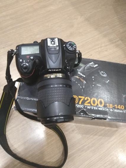 Nikon D7200 Com Lente 18 140mm Na Caixa