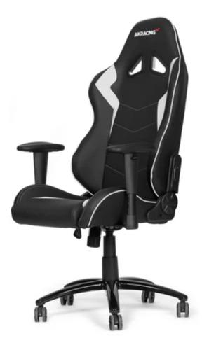 Imagen 1 de 1 de Silla de escritorio Akracing Octane gamer ergonómica  black y white con tapizado de cuero sintético