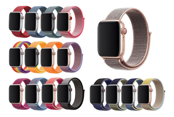 Pulseira Nylon Para Apple Watch 38mm 40mm 42mm 44mm Series