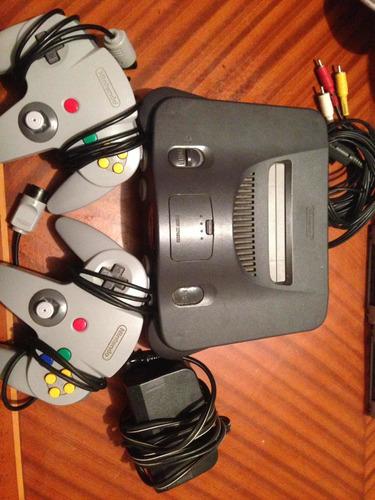 Nintendo 64 Con 2 Controles Muchos Juegos Y Accesorios