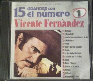 Cd - Vicente Fernandez - 15 Grandes Con El N# 1 - Original