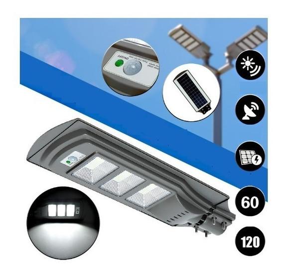 Refletor Luminária Pública Poste Solar 80 Led 60 W Sensor