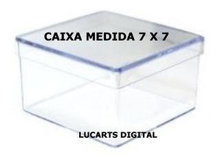 30 Caixinha De Acrílico 7x7x4 Cm Cristal