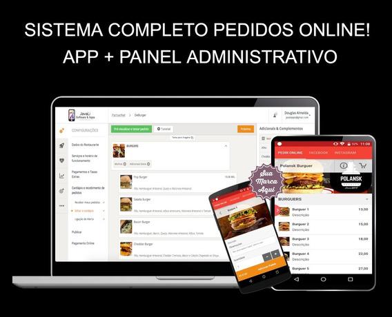 Aplicativo Pedidos Online Multi Estabelecimentos!