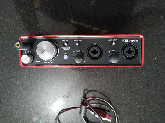 Placa Gravação Focusrite 2i2