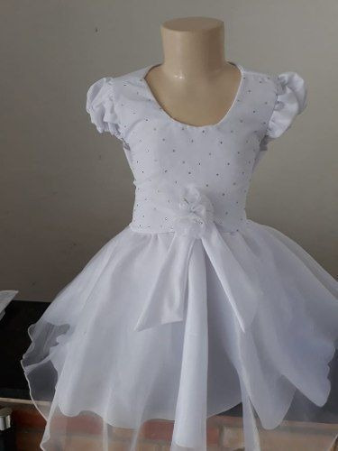 Vestido Batizado Branco