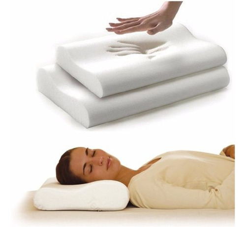 Almohada Cervical Ortopedic Memory Latex  Pillow Indeformabl