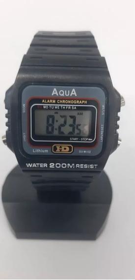Relogio Aqua Masculino Aprova Dagua Aqua Hd Original ( Top)