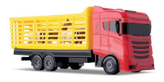 Brinquedo Caminhão Com Cavalos E Vacas Cowboy Truck