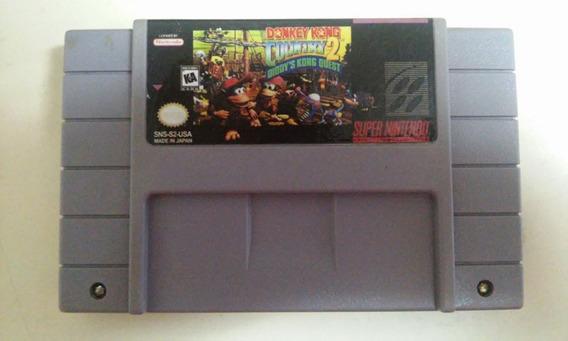 Fita Donkey Kong 2 Diddys Quest Salvando Jogo Snes Nintendo