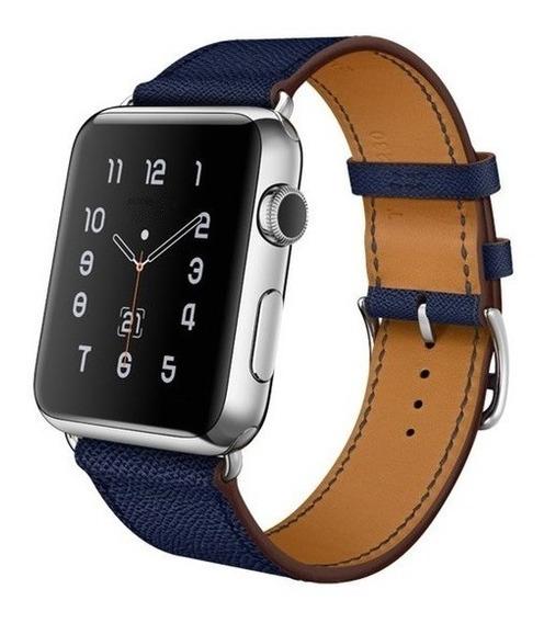 Pulseira Apple Watch Couro Estilo Hermes 42mm + Case