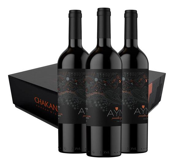 Vino Tinto Malbec Ayni Gravas Malbec (3x750ml) Con Estuche