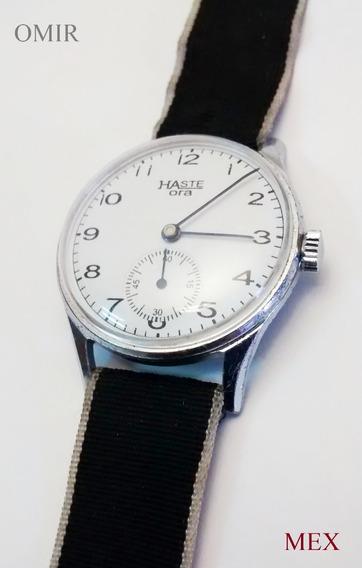 Reloj Haste Cuerda Manual Vintage Modelo Ora Caja Niquelada
