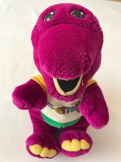 Peluche Original De Dinosaurio Morado Barney 1991 Seminuevo