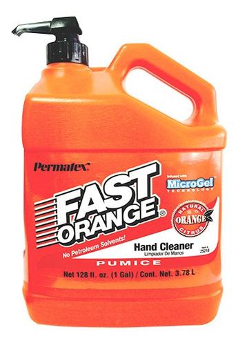 Imagen 1 de 2 de Limpiador Manos Fast Orange Galon
