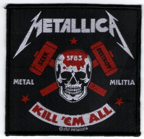 Patch Microbordado - Metallica - Metal Militia - Oficial