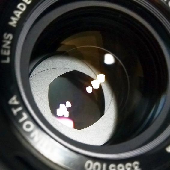 Lente Minolta Mc Rokkor Pg 50mm 1.4\ Diafragma Contínuo
