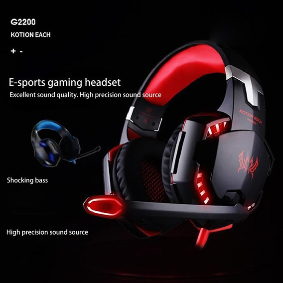 Kotion Each G2200 (vermelho) Universal Com Fio Usb 7.1 Canal