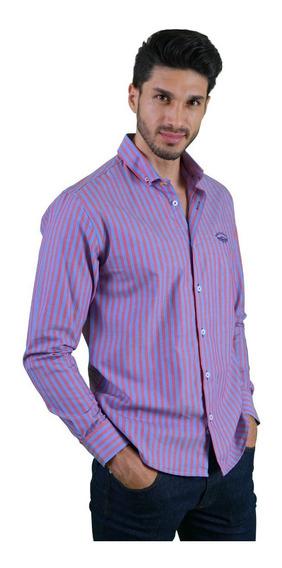 Camisa Casual Hombre Porto Blanco Algodón Colores Rayas