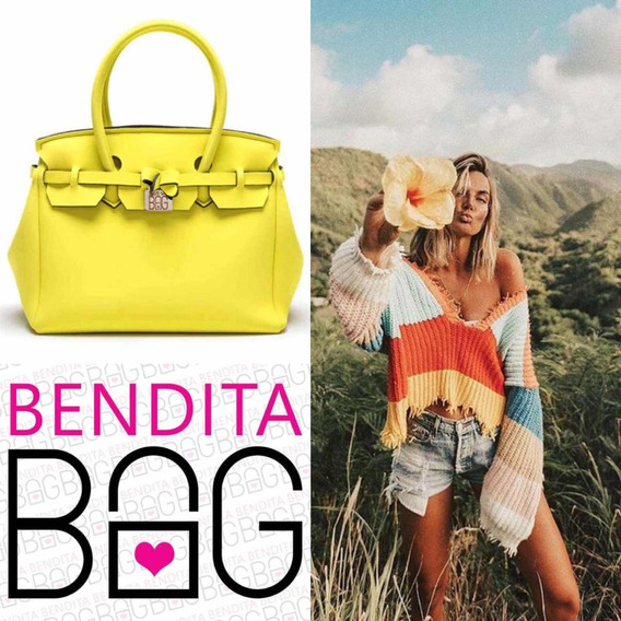 Cartera Neoprene Bendita Bag L Amarillo