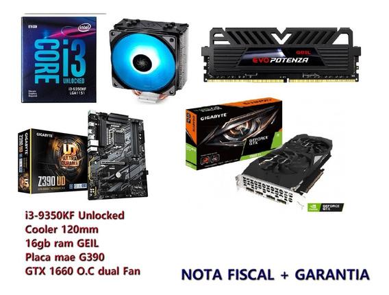 Kit I5-9350kf + Gtx 1660 + 16gb + Gygabyte Z390+cooler Rgb