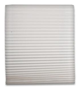 Persiana Plisada 1.21 X 1.82 M De Papel Blanco Autoadherible