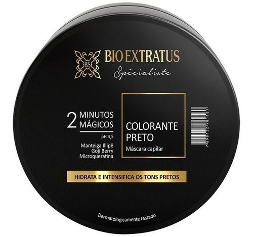 Imagem 1 de 2 de Máscara Colorante Preto Bio Extratus 2 Minutos Mágicos 250g