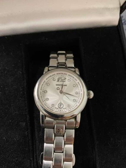 Autêntico Relógio Montblanc Star - Com Diamantes