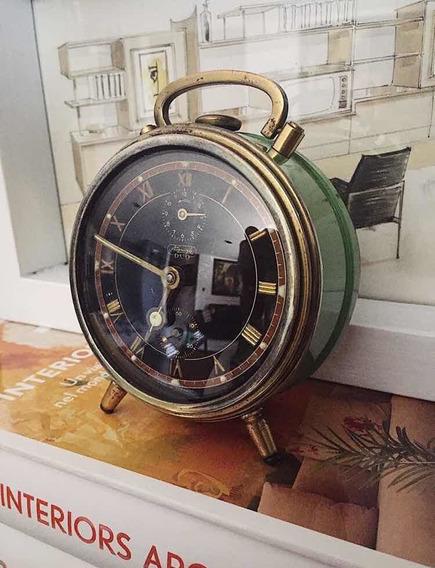 Reloj Despertador Antiguo Original Marca Kienzle Dúo