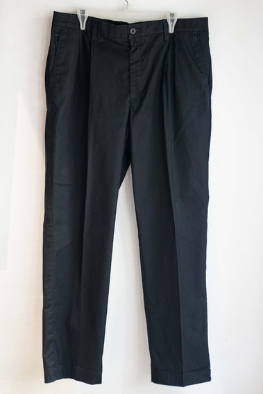 Pantalón Hombre Gabardina Azul -import. Usa -t.l. Impecable