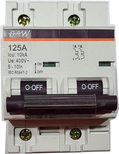 Interruptor Térmico Térmica 125a Bipolar 2x125a 400v Baw