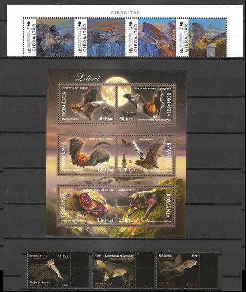 # Mcn # Lote Temático 2006/17 - Morcegos - X6 Séries Mint