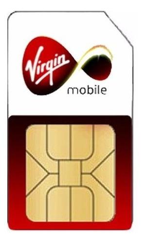 Imagen 1 de 6 de Pack (3+1) Simcard Prepago Virgin. Envío Gratis!