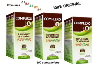 Kit 3 Polivitaminico Vitaminas Complexo B 300 Comprimidos