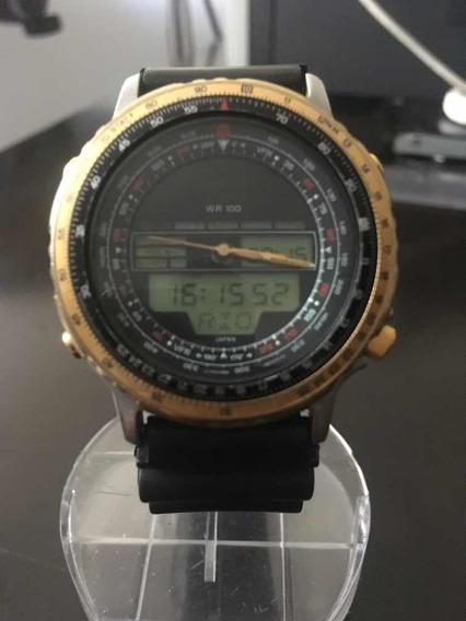 Relógio Citizen Wingman Anos 80 (raro) E Bem Conservado