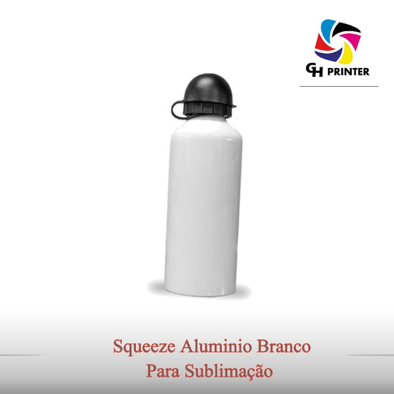 Squeeze Aluminio Branco P/ Sublimação 500ml 26 Unidades