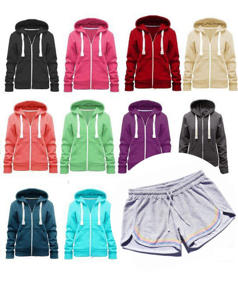 Conjunto Training Dama Verano 100% Algodon Campera + Short