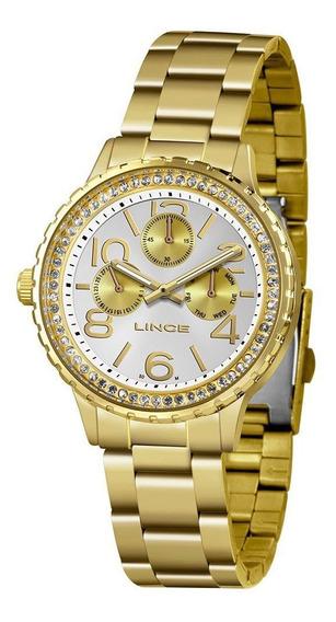 Relógio Feminino Lince Urban Dourado Lmg4624l-s2sx